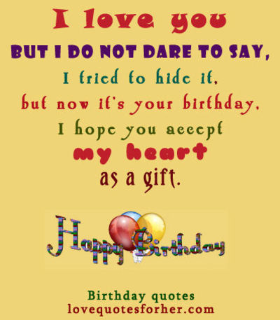 Happy Birthday Quotes And Sayings For Her Love Quotes For Her