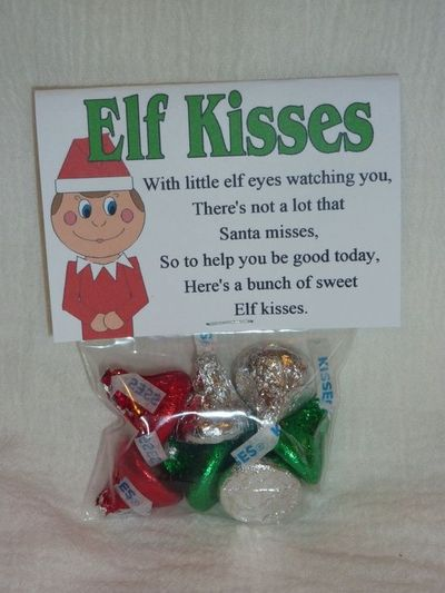 Candy kisses poem just b cause for Elf on the shelf chocolate kiss