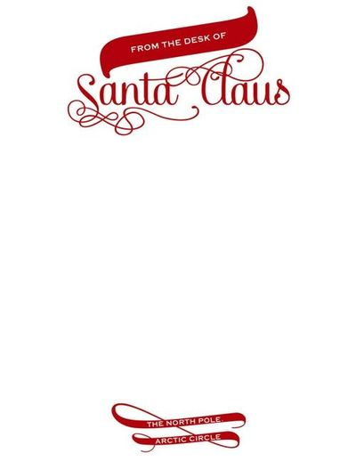 Santa Claus Official Letterhead - designed by Sassy Designs, Inc. FREE ...
