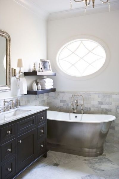 bathrooms - waterworks candide freestanding oval bathtub lay
