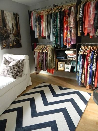 turn a spare bedroom into a giant walk in closet sitting area makeup