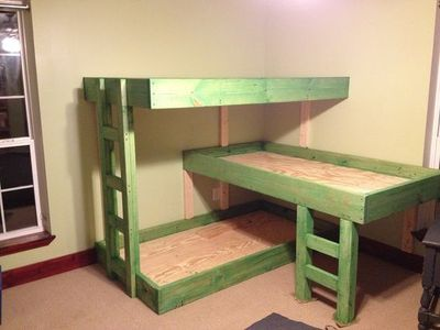 triple bunk bed design plans