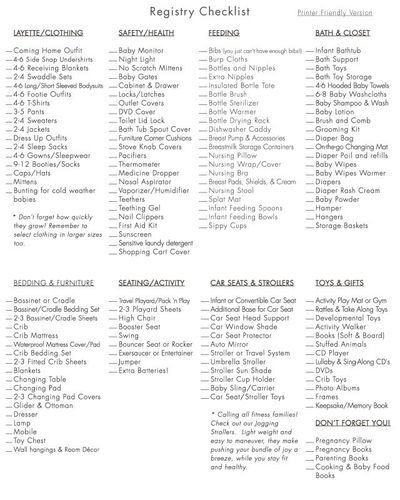 126ada6ed12 Buy Buy Baby Registry Checklist. I don t think you really need to register
