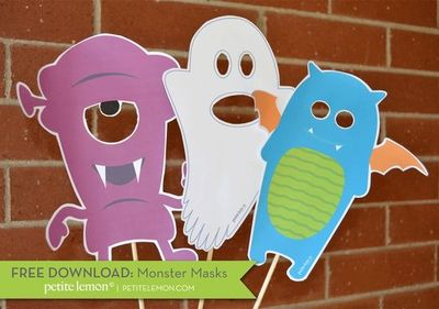 Halloween Monster Printables Free Printable Monster Masks