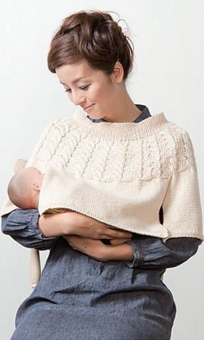 Crochet Pattern For Nursing Shawl : Ravelry: Nursing Poncho by Pierrot - clever knitting ...
