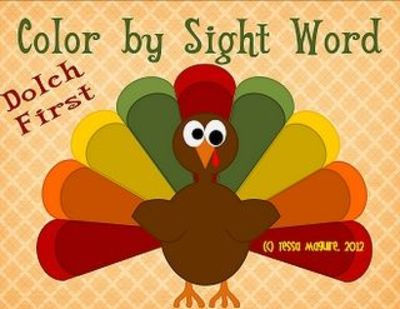 Free Color by Sight Word with the Dolch first grade words