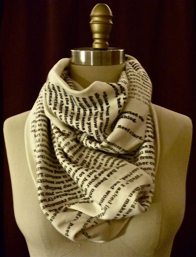 Jane Eyre Book Scarf. $42.00, via Etsy.