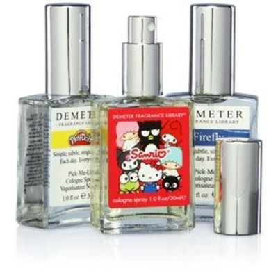 "Demeter Fragrances - such as ""Earl Grey Tea"", ""Firefly"", ""Marshmallow"" and ""Thunderstorm""."