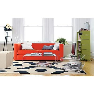 Club Atomic Orange Sofa In Sofas Cb2