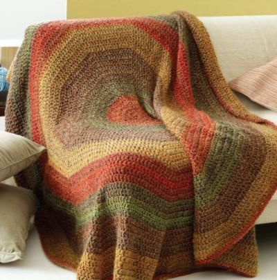 Lion Brand Homespun Stratford Circle Afghan Crochet Ideas And