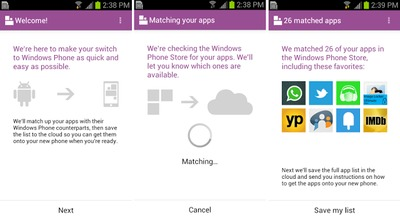 Switch To Windows Phone App For Android