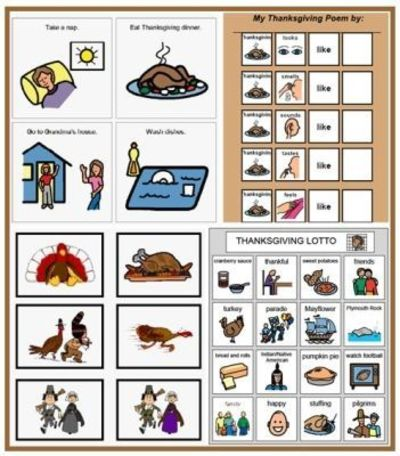 Thanksgiving Speech Games and Activities at Speaking of Speech