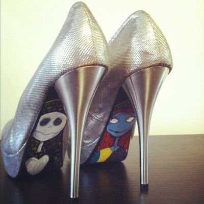 Nightmare Before Christmas Silver Pumps by jenuineB on Etsy / wedding ...