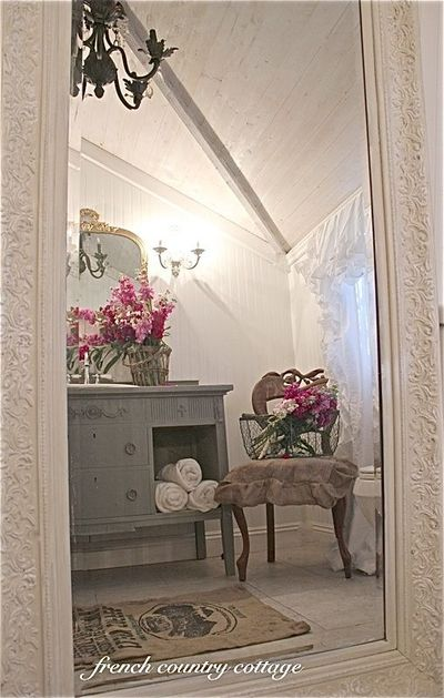 French country cottage petite cottage bathroom makeover for Country cottage bathroom ideas