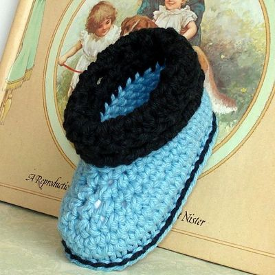Crochet+Baby+Shoes+Patterns | cuffed boots baby shoes crochet pattern