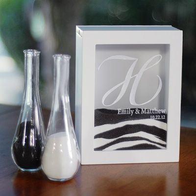 Personalized Unity Sand Ceremony Shadow Box Set. Ooh this is so cute I want it for my sand ceremony