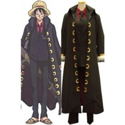One Piece Strong World Luffy Uniform Cloth Cosplay Costume---CosplayDeal.com