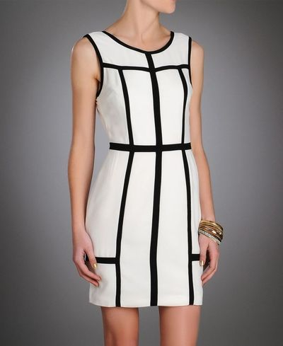 Ark & Co. Black and White Mod Shift Dress!