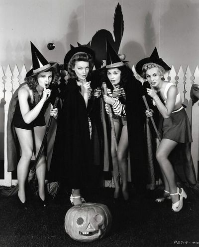 Vintage Hollywood Halloween Pin Ups Witches Costumes