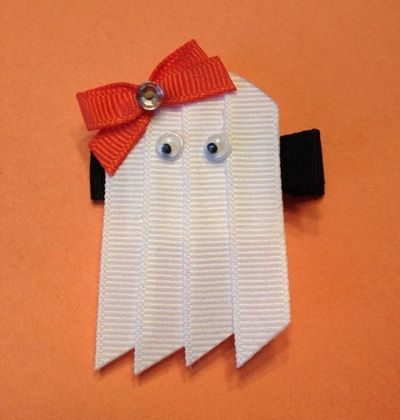 Ghost Hair Clip or Lapelpostby KatiebugBows on Etsy, $4.00