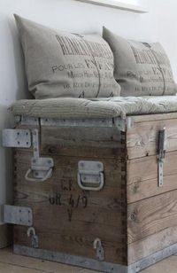 Super cute - storage - bench seat for dorm room and can make cushion from material to match bedding