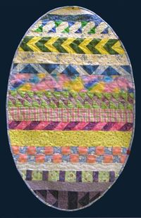 Easter Egg Table Topper by Jane Conti at Fabric Stash