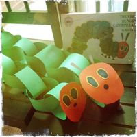 A Very Hungry Caterpillar Craft for Little Ones!post6: #WorldEricCarle and #HungryCaterpillar