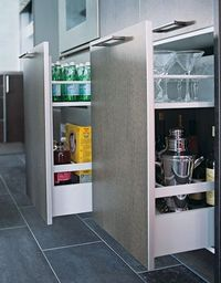 pull-out pantry drawers in kitchen designed by alexander adducci