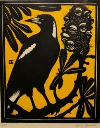 Currawong and Banksia, Bruce Goold.