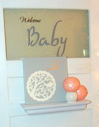 Welcome Baby Door for Shower