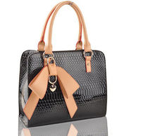 Classic handbags bowknot women's shoulder bag totes 2013 in black