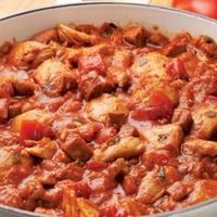 This is a great make-ahead recipe: Iberian-Style Sausage & Chicken Ragù -- This hearty sausage and chicken ragu was inspired by a fabulous stew Bruce Aidells enjoyed when he was traveling in Spain. Serve it over a heartier pasta, such as whole-wheat ...