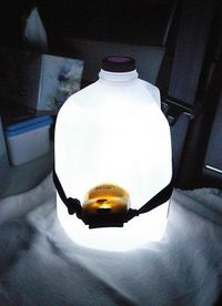 When camping, stick a headlamp around a water jug and it will light up the tent.