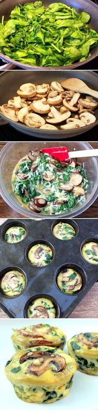 Spinach Quiche Cups - excellent-eats