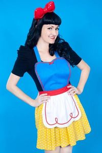SNOW WHITE apron retro APRON womens full by loverdoversclothing, $29.99