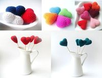 Love this white vase display for Crocheted Hearts