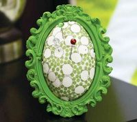 Create a fantastic no-sew pincushion with a frame, fabric, and batting!