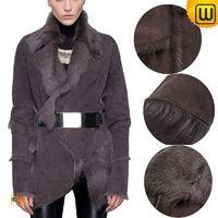 Women Sheepskin Leather Fur Coat CW614084