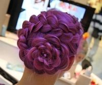 luv it saw how to do this flower on a youtbe channel called cute girls hair styles