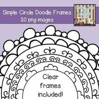 20 Simple Circle Doodle Frames $