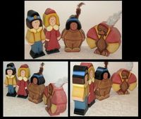 "2"" Chunky Wood Thanksgiving Shelf Sitters,#Tole painted http://www.jusbcuzdezins.com"