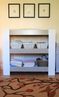 Amazing homemade #modern changing table in this chic #nursery.