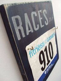 A perfect way to display old race numbers