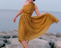 Mustard Yellow Dress by RenaissanceClothing on Etsy
