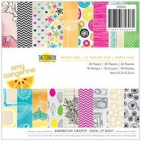 *American Crafts Amy Tangerine SKETCHBOOK 6 X 6 Paper Pad