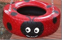 Upcycle an old tire into an awesome swing.