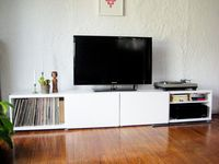 white tv stand/storage