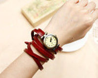 4 Colors leather wrist watch,Multi-circle watch bracelet,leather watch,adjustable watch,vintage wrist watch, handmade w