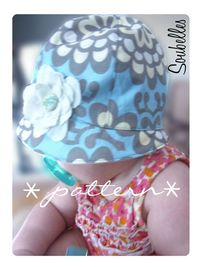 PDF pattern for a mod baby girl hat sewing pattern by soubelles, $5.00