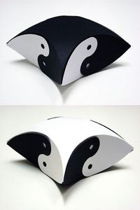 How to make yinyang pillow boxes